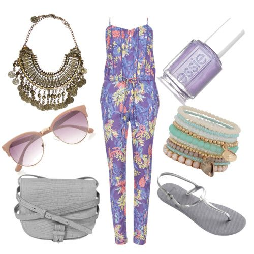 first vacation day ☀ by hanonaa on Polyvore featuring polyvore fashion style Havaianas Little Liffner ALDO River Island Essie