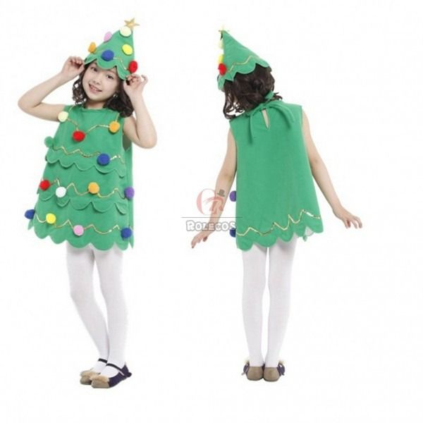 Kids Girls Christmas Costume Xmas Tree Cosplay Santa Elf Fancy Kids Elf Costume Christmas Tree Costume Tree Costume