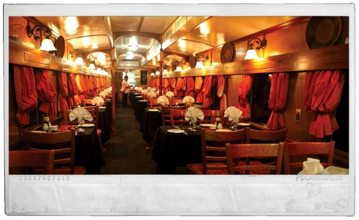 dining room in the train