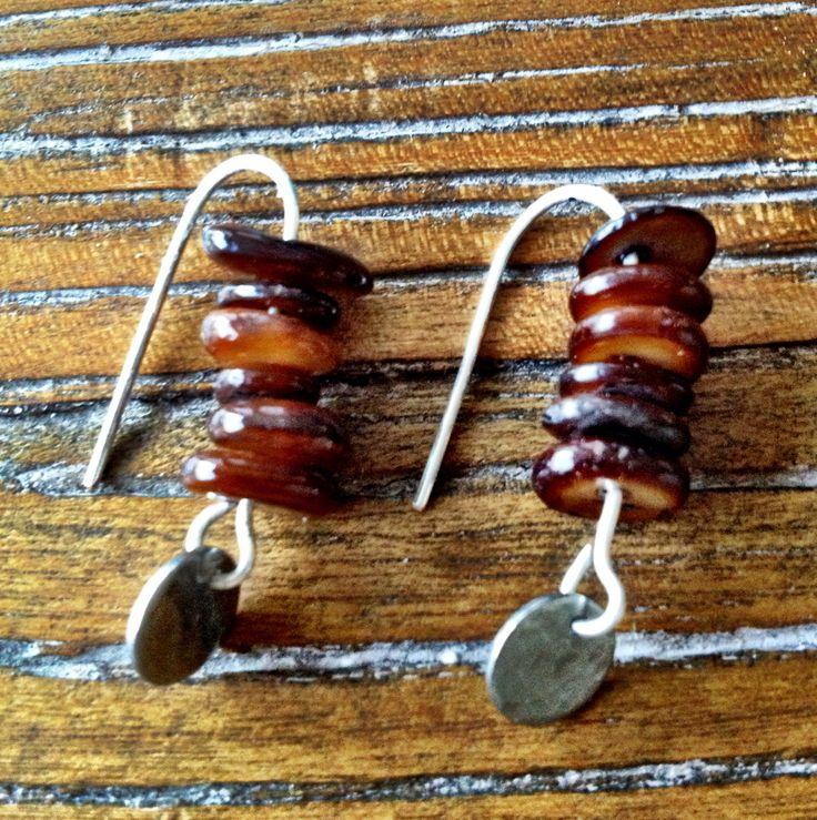 Stacked on Silver earrings - handmade jewellery by indigirl designs