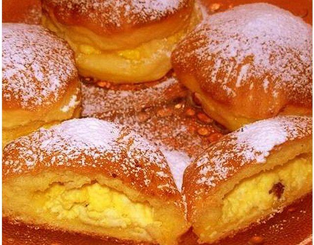 Túrófánk sütőben - www.kiskegyed.hu Cabană blinele Brânză cuptor