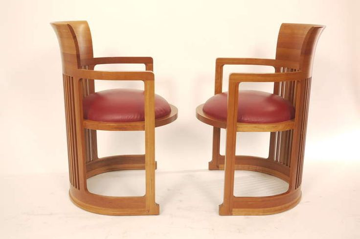 Pair of  Frank  Lloyd Wright Barrel Chairs | From a unique collection of antique and modern armchairs at https://www.1stdibs.com/furniture/seating/armchairs/