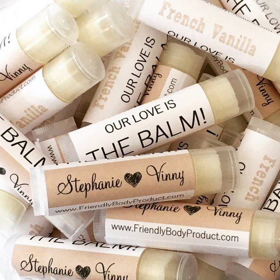 Custom Lip Balms – Vegan Lip Balms – Low Minimum, Cocoa Butter, Essential Oil – Lip Balm Gift Wedding Bridal Label Chapstick Shower Gift