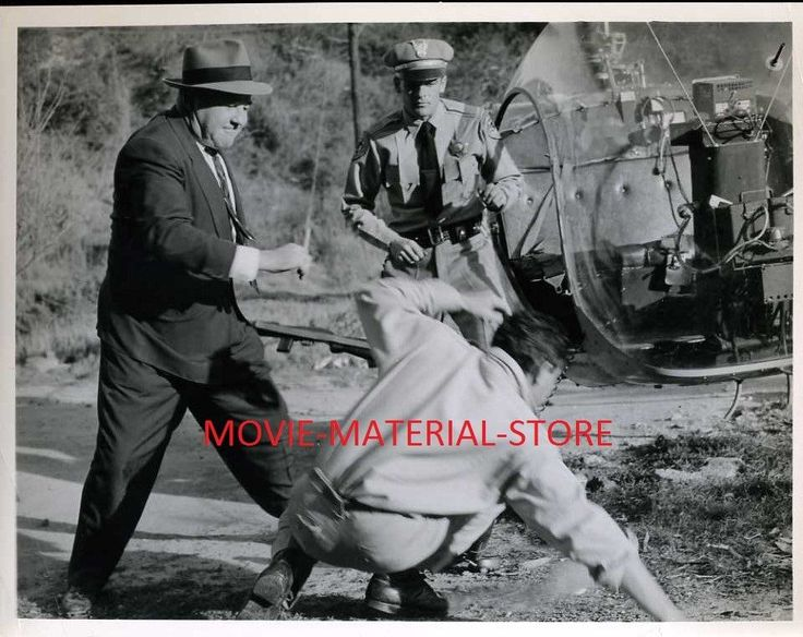 "Broderick Crawford Highway Patrol Original 8x10"" Photo #K4883"