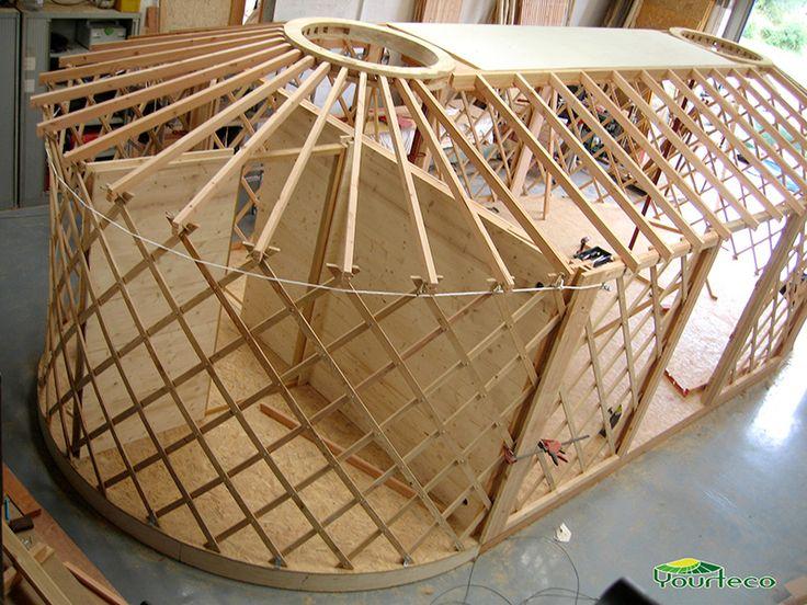 Structure d'une yourte ovale                                                                                                                                                                                 Plus                                                                                                                                                                                 Plus