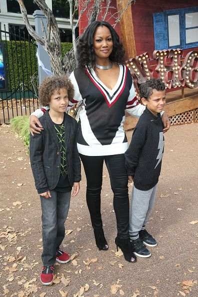 Actress Garcelle Beauvais and children Jaid Nilon and Jax Nilon attend the premiere of Sony Pictures Entertainment's 'Goosebumps' at Regency Village...
