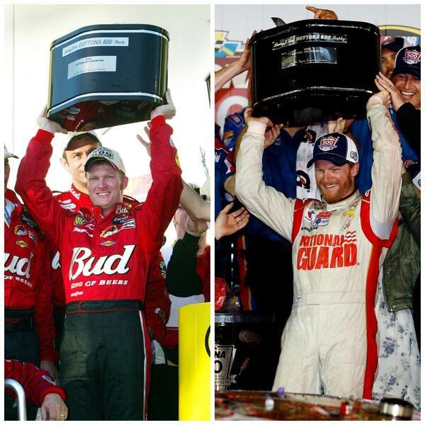 10 years apart 2004, and now 2014 Daytona 500 winner Dale Earnhardt Jr. http://www.pinterest.com/jr88rules/nascar-2014/