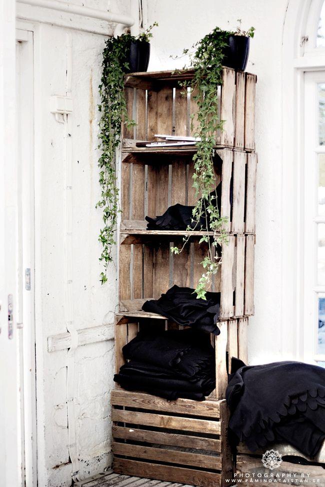 Les 99 meilleures images du tableau palettes caisses sur pinterest bois vivre et bricolage - Caisse apple ...