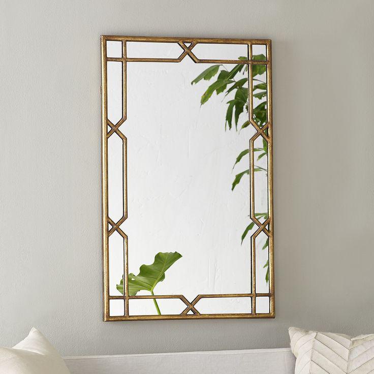 mirror 20 x 36. x-quisite mirror - gold 20 x 36