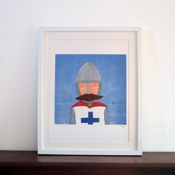 Ilustração D. Afonso Henriques  D. Afonso by carapaudecorridashop, €25.00