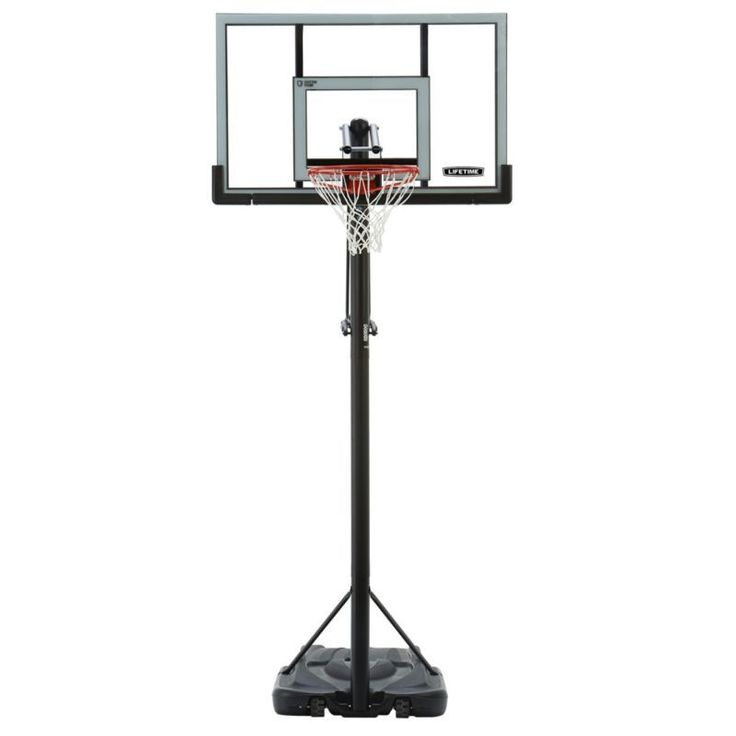 "Lifetime 52"" Steel-Framed Shatterproof Portable Basketball Hoop"