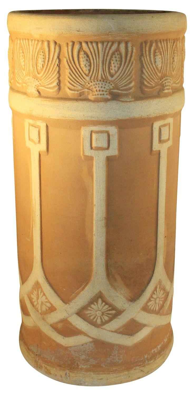 Weller Pottery Teakwood Umbrella Stand - Just Art Pottery from Just Art Pottery