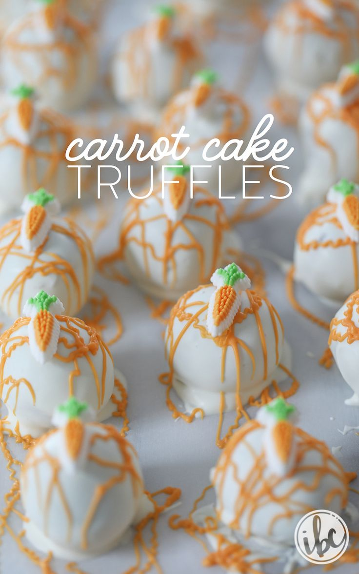 Carrot Cake Truffles for spring and Easter dessert - carrot cake pops | Inspired by Charm