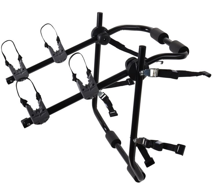 2-Bike Rack Trunk Mount - Deluxe Bicycle Carrier for most Sedans / Hatchbacks / Minivans and SUVs - Holds Two Cycles. EASY TO USE: User Friendly Mountain Bike mounting Rack with Instructions Included. HOLDS: Two bicycle capacity. (Fully asssembled). FITS: Most Sedan vehicle trunks (adjustable). DESIGN: 6 point Strap Securing System and soft rubber handles for max security. Made by a trusted brand OxGord.