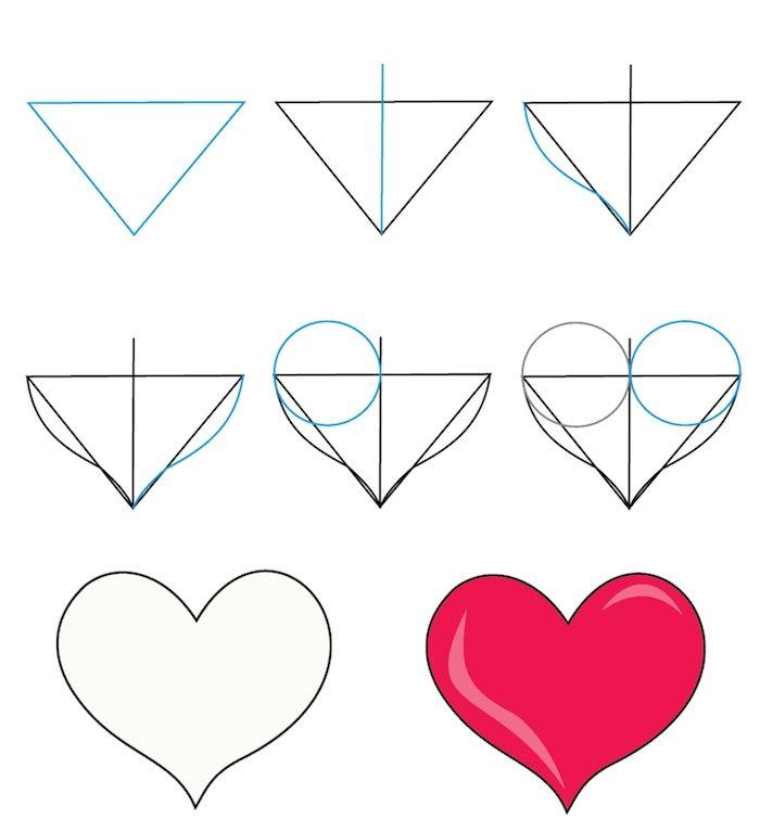 1001 Tutos Et Idees Pour Realiser Un Dessin D Amour Mignon Comment Dessiner Un Coeur Dessin Coeur Dessin De Coeur
