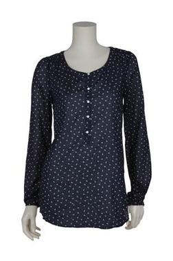 #Bluse von #Esprit: gerader Schnitt, Knopfleiste und Rundhalsausschnitt. Anker- und Polka-Dot-Muster.