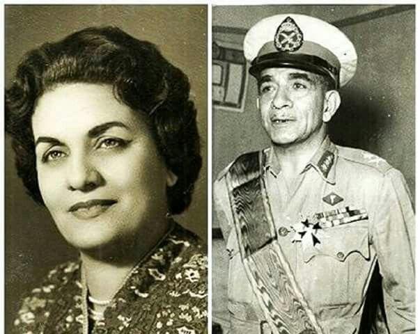 محمد نجيب وزوجته President Of Egypt Old Newspaper Famous