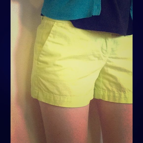 Neon Green / yellow Shorts  Super trendy candy / neon green shorts with 4 inch inseam from Loft. Hardly worn (wrong size for me). Size 00 LOFT Shorts