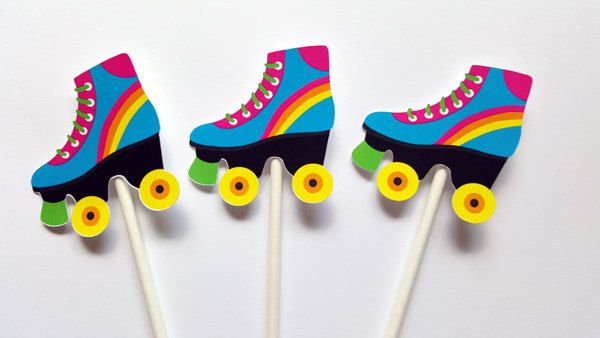 Patín  patinaje cumpleaños fiesta Banner  rodillo patinaje