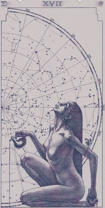 XVII. The Star: Tarot of the III Millenium /  'If our minds are glorious mansions, and our spirits are the surrounding landscape, then the Tarot is a doorway revealing a wide realm of ever-increasing beauty ...'