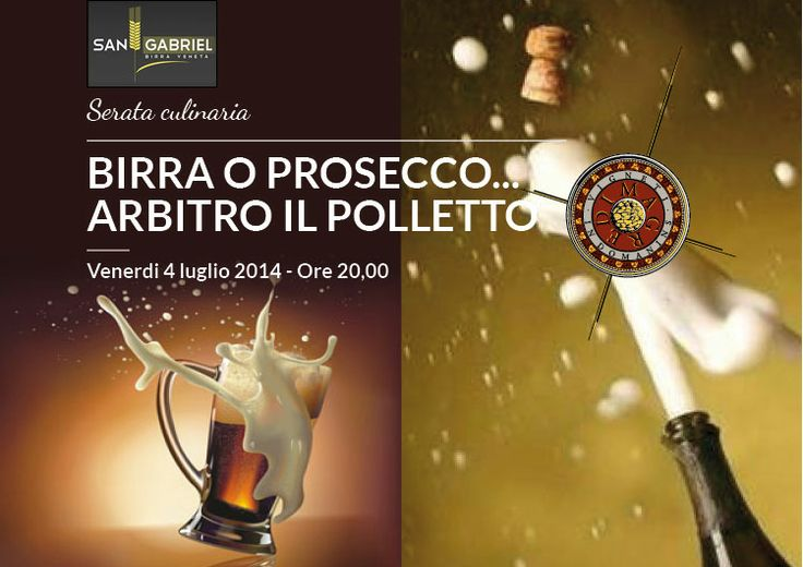 """Friday 4th July 2014 – 20.30 The winery I Magredi invites you to an original culinary evening, where you can choose in pairing with the chiken, the beer """"Birra S. Gabriel"""" or a selection of I Magredi's wines. Let the best win!"""