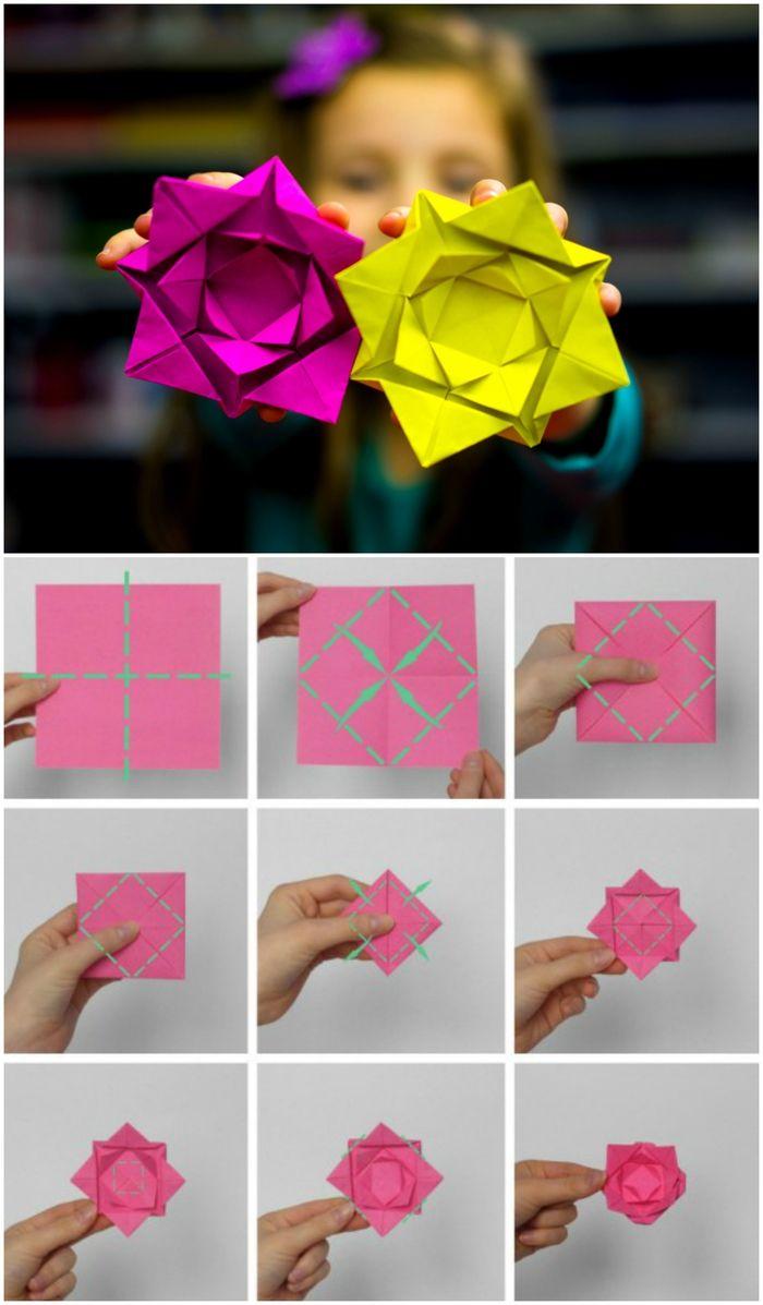 Origami Et Art Du Papier : origami, papier, Idées, Bricolages, Apprendre, L'art, Pliage, Papier, Origami, Facile, Facile,, Origami,