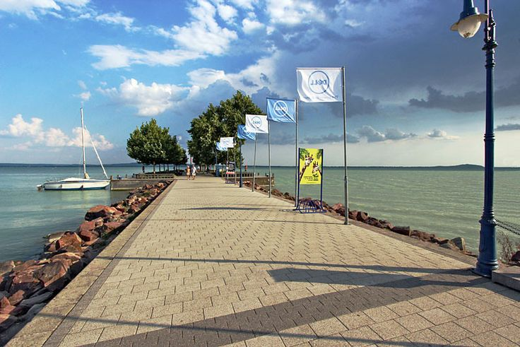 Pier at Revfulop Lake Balaton Hungary