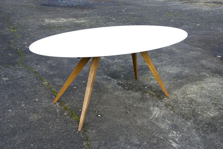 Ovale Eettafel: 190 x 92 cm www.design-tafel.be