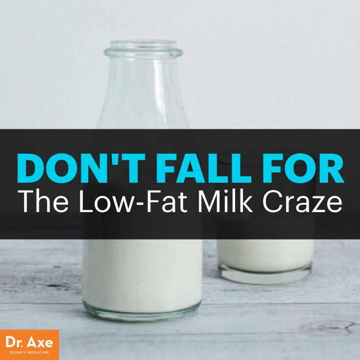 Low-fat milk - Dr. Axe http://www.draxe.com #health #holistic #natural