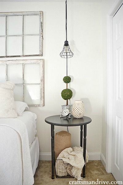 DIY circle table - So easy to make!!! Perfect for a nightstand, side table, or any room in the house.