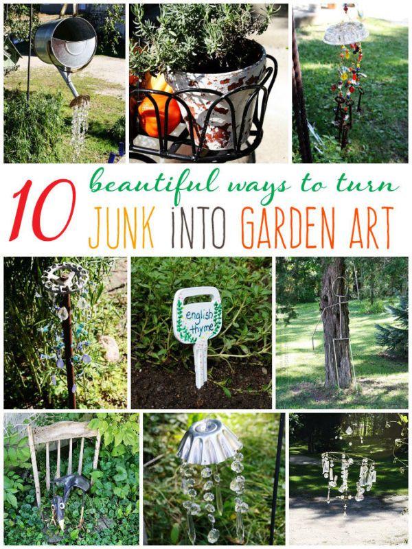 10 Beautiful and Inspiring Way to Turn Junk Into Garden Art
