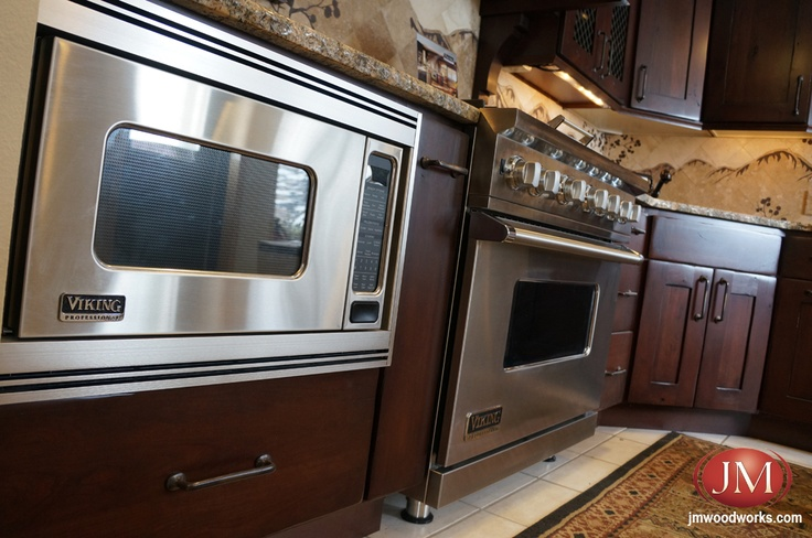 Viking Built In Microwave Stainless Steel Oven And Range At Jm Kitchen Showroom Castle Rock Colorado Cabinets Countertops Pinterest