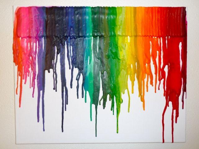 CrayonMelted Crayons Art, Diy Art, Crayonart, Melted Crayon Art, Canvas, Hair Dryer, Hairdryer, Crayons Melted, Art Projects