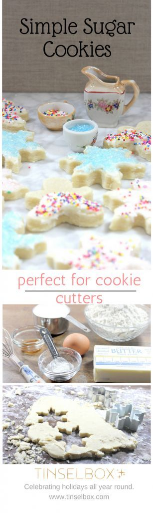 Simple Sugar Cookies for Cookie Cutters