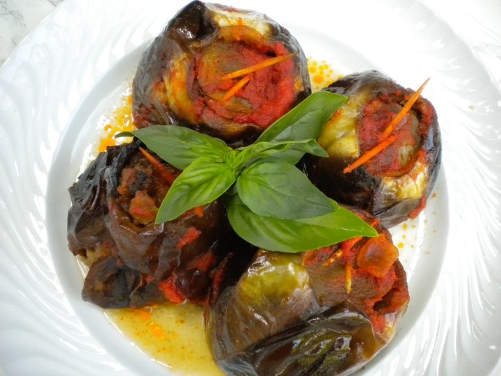 Baked stuffed eggplant, Sicilian delicious food! now I just need an oven