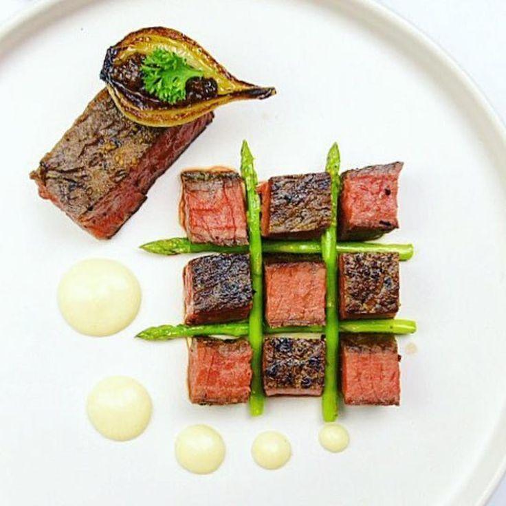 #Repost @snowcology_ ・・・ Seared Wagyu ribeye - sirloin steak. Cheddar polenta…