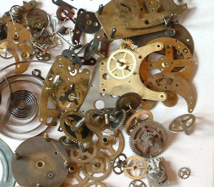 Gear wheels  hands, crowns, stems, punk cogs jewels crowns 20 gr  #Raketa