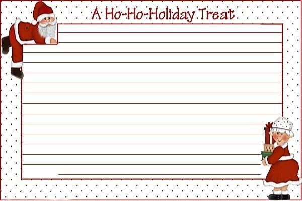 Christmas Recipe Card Template 10 Best Images About Blank Printable Recipe Cards On Pint Holiday Recipe Card Template Recipe Cards Template Holiday Recipe Card