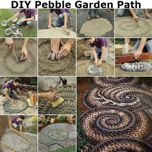 #DIY Pebble Garden Path   DIY Ideas By You