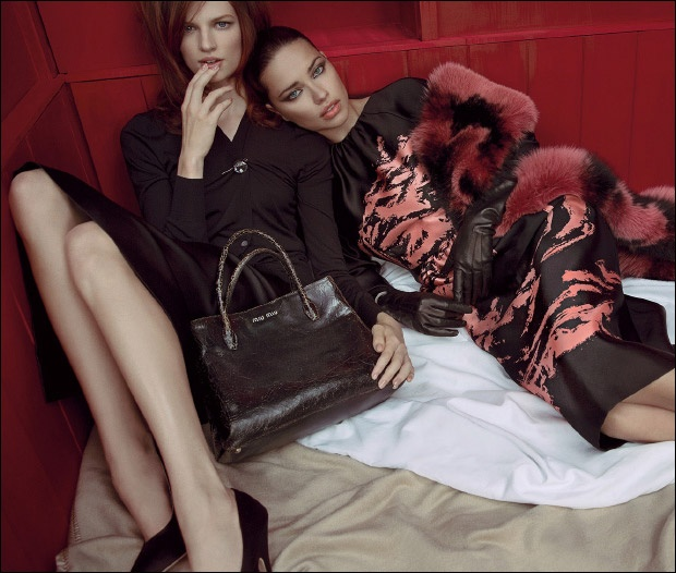 Bette Franke with Adriana Lima by Inez  amp  Vinoodh for Miu Miu Spring    Bette Franke Miu Miu