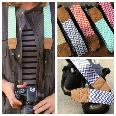 It's a Snap! with these Chevron Camera Straps selber nähen!