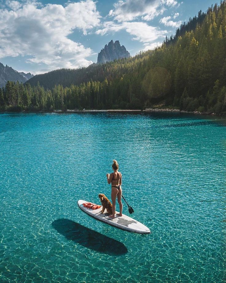 We LOVE paddle boarding for these moments