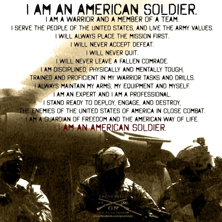 what the soldiers creed means to me essay Search results for 'what the soldiers creed meands to me' what the soldiers creed means to short accountability essay national guard soldiers at the 43rd.