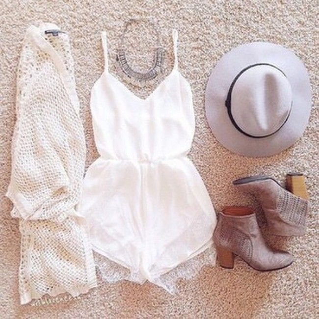 With a dress instead of the romper:) so cute!