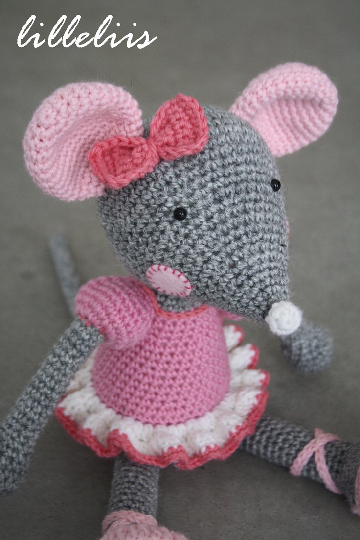 Amigurumi pattern - Ballerina-Mouse amigurumi Pinterest