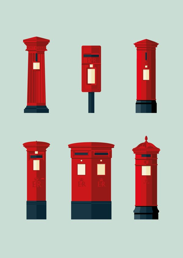 Jordon Cheung. Postboxes. by George Grace Represents , via Behance