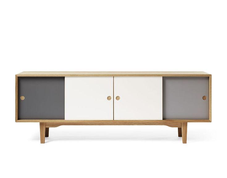 Zweed MOODI 180 Sideboard & Media cabinet in Warm Grey