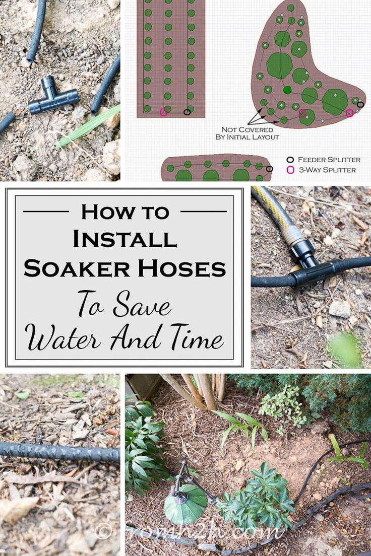 How to install soaker hoses to save water and time | Want to have an automatic watering system for your garden but don't want to spend a lot of money? Click here to find out how to install soaker hoses to do just that, plus save on water at the same time!