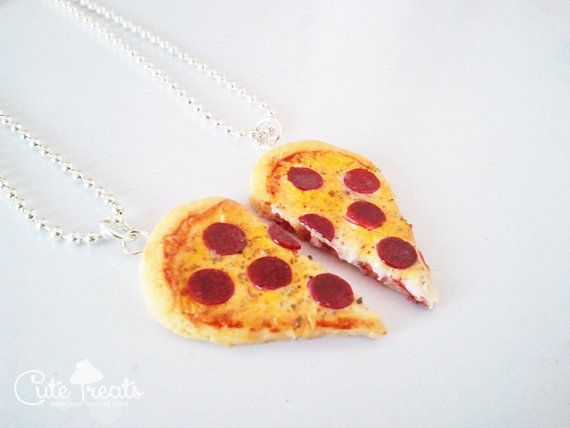 Mejores amigos Pizza collar joyas de la por Cutetreats en Etsy