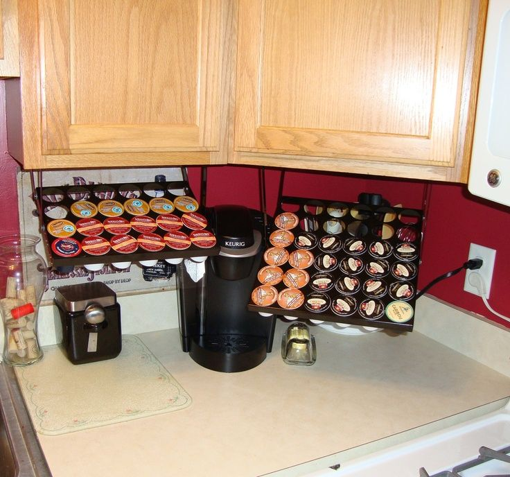 Just wanted to share. I have one and LOVE it! Do you own a Keurig and need a way to store all those K-Cups? Check out http://www.coffeekeepers dot com! Coffee Keepers are precision, all-steel K-Cup storage units that mount under cabinets and conveniently swing down for use.